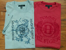 New Authentic NWT TOMMY HILFIGER Cotton Graphic Logo SS Tee Shirt Top Mens