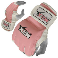 MRX MMA Gloves Ladies Boxing UFC Cage Fight Gear Women Grappling Glove, Pink