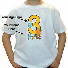 Big Number LITTLE MONSTER BOY Birthday T-shirt CUTE SCARY personalized with name