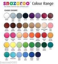 PROFESSIONAL SNAZAROO FACE PAINT MAKE UP CLASSIC COLOURS PAINTS PAINTING LOT