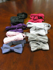 Pre Tied Bow Ties Black Apple Red Plum Dusty Blu Suit Tux Prom Retro Steampunk