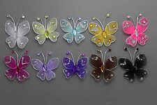 60pc 3.5cm  Nylon Stocking Butterfly Wedding Decorations  Free Shipping