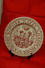 'A Good Mother Makes A Happy Home' China Plate - Perfect for Mother's Day