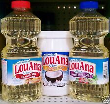 All Natural LouAna Pure Cooking Oil Stir Frying EFA Eating Lou Ana ~ Pick One