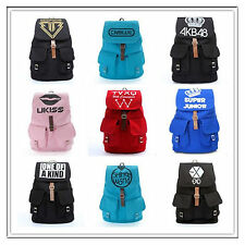 Kpop hottest shinee bigbang EXO TVXQ backpack 2pm,leisure style Schoolbag bag