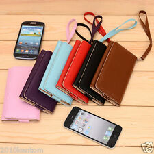 Nokia Asha 310 301 105 Leather Carrying Clutch Flip Wallet Case Cover