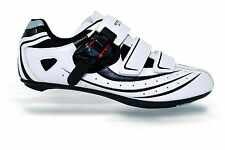 TKX TB02 WHITE ROAD BIKE CYCLING SHOES (COMPATIBILITY LOOK / SHIMANO CLEATS)