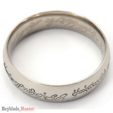 Lord of Rings Silver Titanium Ring LOTR Size 7-13 Engagement Wedding Anniversary