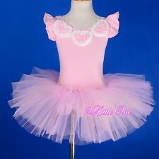 Girl Ballet Tutu Dance Costume Leotard Pageant Fairy Dress Pink Size 2T-8 #047