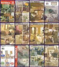 OOP Butterick Sewing Pattern Home Déco Furniture Covers & Slipcovers Your Choice
