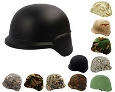 Airsoft Tactical M88 PASGT Kelver Swat Helmet Black with Helmet Cover 10 Colors