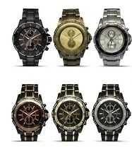 MONTRES CARLO SILVER,GUNMETAL,BRASS,TWO TONE GUN,GOLD / SILVER CRYSTAL MEN WATCH
