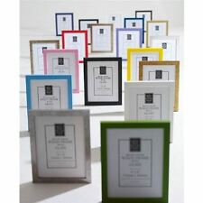 WOOD WOODEN PHOTO PICTURE FRAME GLASS FRAME STAND OR HANG VARIOUS SIZES & COLOUR