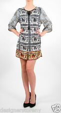 Tolani SARAH Mini Dress Tunic in Camel Print 8327