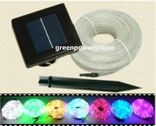 Solar Power Rope 100Led light Tube String Ourdoor Garden Fairy Party Waterproof