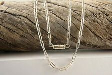 """Chain Necklaces, Flattened Oval 18"""", Sterling Silver Jewelry, Designer Necklaces"""