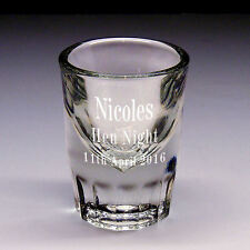 Personalised Engraved Bullet Shot Glass Hen Party / Stag Party With Gift Box