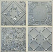 Decorative Texture Ceiling Tiles - Silver With Different Patterns Easy Glue Up