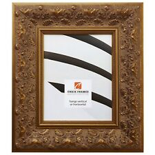 "Craig Frames Asian, 3.5"" Wide Gold Wood Picture Frame"