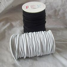 BLACK OR WHITE ROUND ELASTIC CORD SHOCK CORD