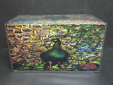 COLORFUL PEACOCK IMAGE #2 VINYL CHECKBOOK COVER