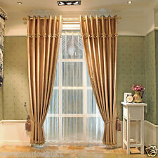 %H Customized Shading Fabric Jacquard Cafe-Golden 90%Blockout Home Decor Curtain