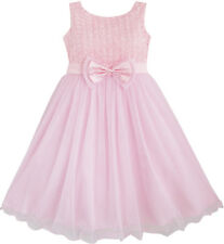 Sunny Fashion Flower Girl Dress Rose Flower Pink Wedding Bridesmaid Size 2-12