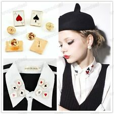 Hot 2013 New Stylish Women's Retro Poker Collar Button 4 Different Styles