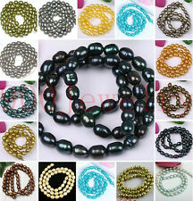 5-6mm Cultured Rice Oval Freshwater Pearl Loose Freeform DIY Beads