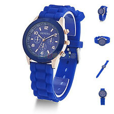 Colorful Unisex Geneva Silicone Jelly Gel Quartz Analog Sports Wrist Watch