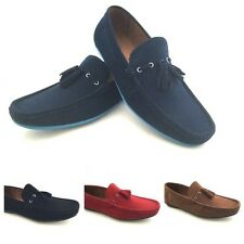 New Mens Moccasins Leather Look Slip On Shoes Loafers Sizes UK 6 7 8 9 10 or 11