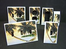 TROPICAL SUNSET PALM TREE IMAGE 5  LIGHT SWITCH COVERS PLATE AND OUTLETS