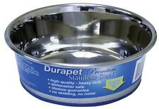 Our Pet Durapet NO SKID Stainless Steel Food + Water DOG Bowl CHOOSE SIZE