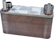 "B3-12A 40 Plate Wort Chiller 1.16 gpm 7.5""x2.9"" M8 Studs Beer Brewing Stainless"