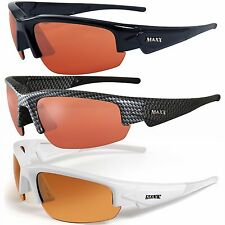 Maxx PHANTOM HD Black Carbon Fiber White Sunglasses
