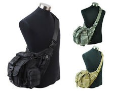 3 Colors 1000D Tactical Molle Utility Shoulder Backpack Bag Pouch Black/Tan/ACU