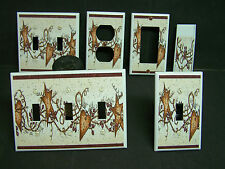 RUSTIC STAR AND HEART IMAGE 1 LIGHT SWITCH COVERS PLATE AND OUTLETS