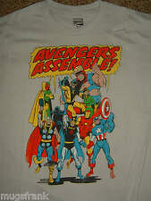 The Avengers Assemble Thor Iron Man Captain America Marvel Comics T-Shirt Nwt