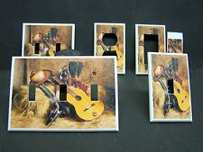 COWBOY HAT BOOTS GUITAR IMAGE 1 LIGHT SWITCH COVERS PLATE AND OUTLETS