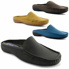 New Ladies Practical Comfy Slip On Backless Moccasins Loafers Flats Size UK 4-8