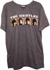THE BEATLES FACES BROWN JUNIOR/WOMENS T-SHIRT BRAND NEW