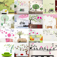 DIY Flower Bird Tree Removable Vinyl Decal Wall Stickers Art Mural Home Decor