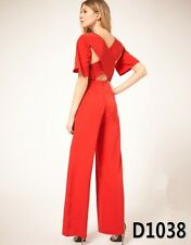 Women celebrity Style Hot Sexy Red Cross Back Bloomer Pants PARTY Overall Dress