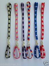 DOLLS HOUSE MINIATURE ONE COLLAR & LEAD for PET DOG / PUPPY - 8 Colours Handmade
