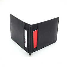 New Mens Wallet KOREA -259 Simple Slim Leather Spring Money Clip Purse Holder
