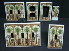 TUSCAN PALM TREE VILLA  LIGHT SWITCH COVER PLATE OR OUTLET