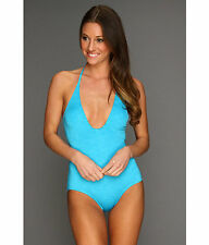 NWT WOMENS HURLEY ROYAL ONE PIECE HALTER SWIMSUIT Blue Pink XS S M L