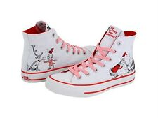 DR. SEUSS Grinch SANTA & CINDY LOU & MAX Christmas Converse Hi-Top Shoes Wms NIB