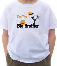 I'M THE  BIG BROTHER SHIRT Halloween BOO GHOST pumpkin TRICK OR TREAT