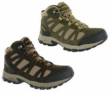 Mens Hi-tec Alto Mid Waterproof Lightweight Hiking Walking Ankle Boots Size 7-13